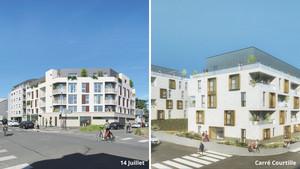 Chartres Développements Immobiliers : Opération 14 Juillet et Carré Courtille – Satellite de Chartres métropole