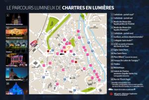 Plan de Chartres en lumières 2019 – Ville de Chartres